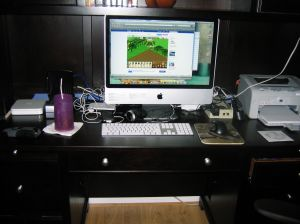 My new iMac and desk!